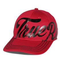 True Religion Men's Iconic Print Cap Sport Strapback Baseball Hat Ruby Red