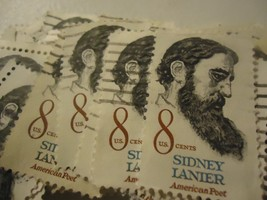 "US POSTAGE LOT Sidney Lanier, Poet ""1972"" CV $25.00 Scott no.1446 100 pack - $3.99"