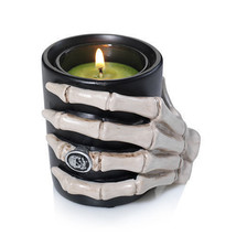 Yankee Candle Raven Night Skeleton Hand Votive Candle Holder New Halloween - $22.76
