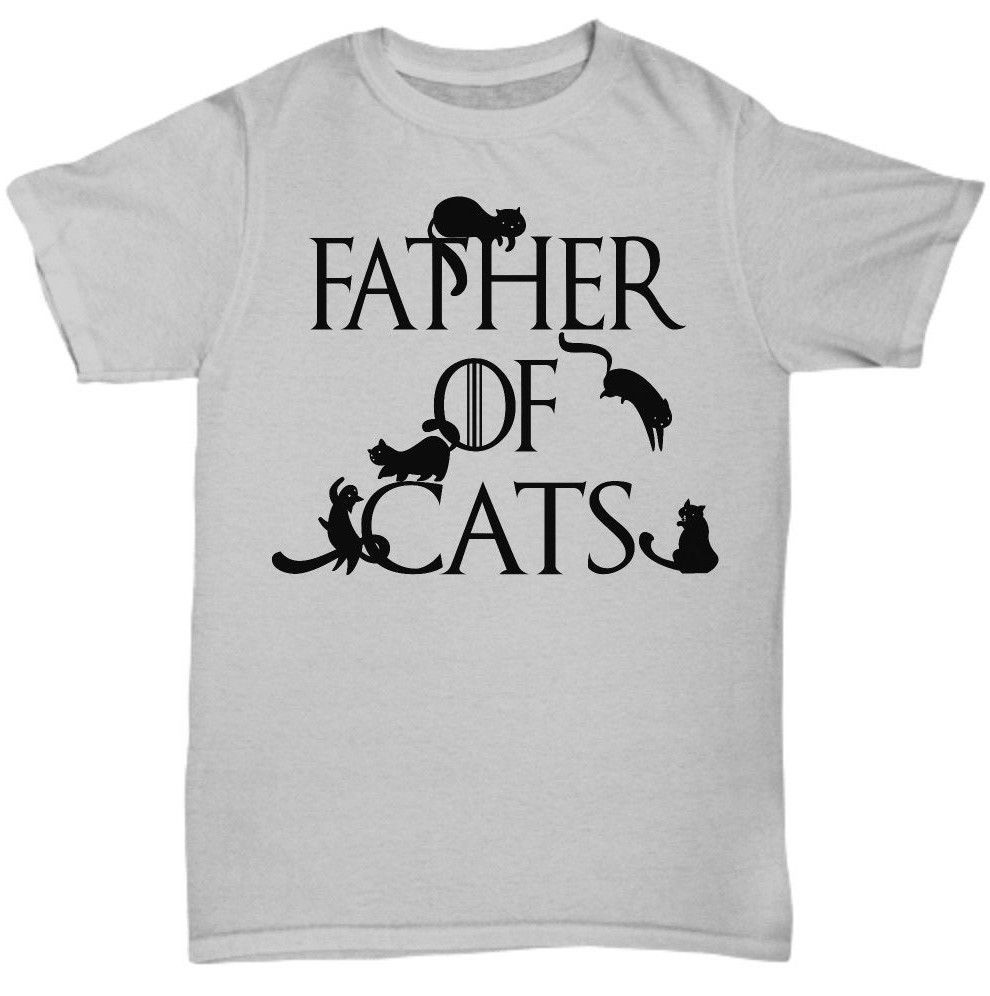 Primary image for Father of Cats Game of Thrones Spoof Cat Dad Funny Tshirt Tee Gift Black or Gray