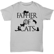 Father of Cats Game of Thrones Spoof Cat Dad Funny Tshirt Tee Gift Black... - $18.33+