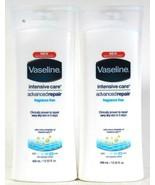 2 Vaseline 13.52 Oz Intensive Care Advanced Repair Fragrance Free Rich L... - $24.99