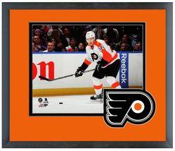 """Luke Schenn 2013 Philadelphia Flyers - 11"""" x 14"""" Matted and Framed Photo  - $42.95"""
