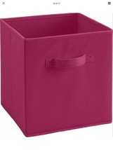 NIP Collapsible Fabric Storage Bin Hot Pink Cubicle - $9.49