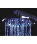 """20"""" Luxury Water Power Round 3 Color LED Temperature Sensitive Rainfall ... - $376.15"""