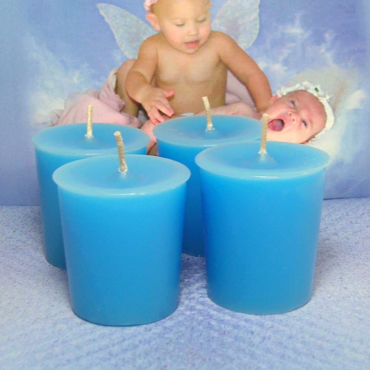 Baby Powder Votives PURE SOY ( Set of 4)
