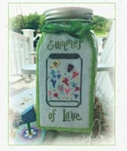 Summer Of Love cross stitch chart Serenity Stitches - $5.40