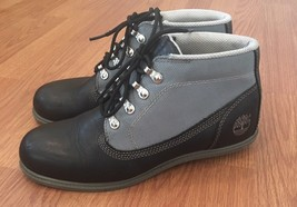 Timberland Waterproof Leather Boots Size 7.5 M Black Gray Lace Up *Defects* - $79.20
