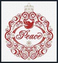 Peace Ornament cross stitch chart Alessandra Adelaide Needlework - $16.20