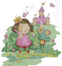 Princess Castle Dreaming In Color cross stitch chart Lena Lawson Needle Arts - $10.80