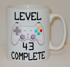 Level 43 Complete 43rd Birthday Mug Can Personalise Video Game Retro Gam... - $9.78