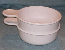 CORNING WARE PYREX WHITE GRAB IT Bowl P-150-B  No Lids - Set 2- 550 mL -EUC - $10.95