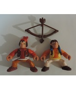 2 Fisher Price Great Adventure type American Indians toy action figures - $6.00