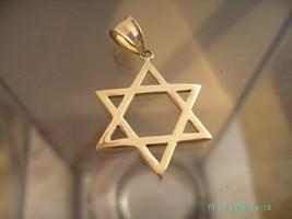14K Yellow Gold Israeli Star Of David - Free Shipping  1x1 in Dimensions !! - $349.99