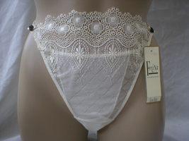 Felina Ivory Lace Desire Thong Panty Style 530289 L Large NWT - $13.95