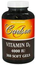 Carlson labs   vitamin d3 4000 iu   360 softgels thumb200