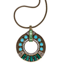 Avon Travel the Globe Large Embellished Disc Pendant - $16.99