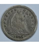1845 Seated Liberty circulated silver half dime VF details - $35.00