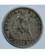1853 Seated Liberty circulated silver half dime XF details - $40.00