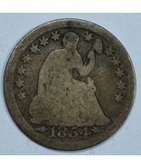 1854 Seated Liberty circulated silver half dime G details - $16.00