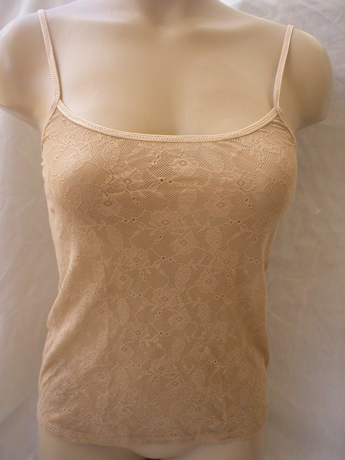 Calvin Klein Nude sheer lace camisole top F2858 NEW S SP