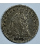 1858 Seated Liberty circulated silver half dime XF details - $60.00