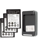 3 X replacement Internal battery and 1 Wall Charger for Samsung Galaxy N... - $31.44