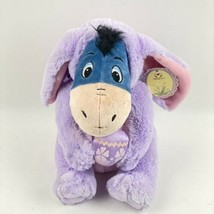 "Disney Eeyore Easter Bunny Ears Purple Plush Winnie the Pooh Stuffed Animal 11"" - $29.69"