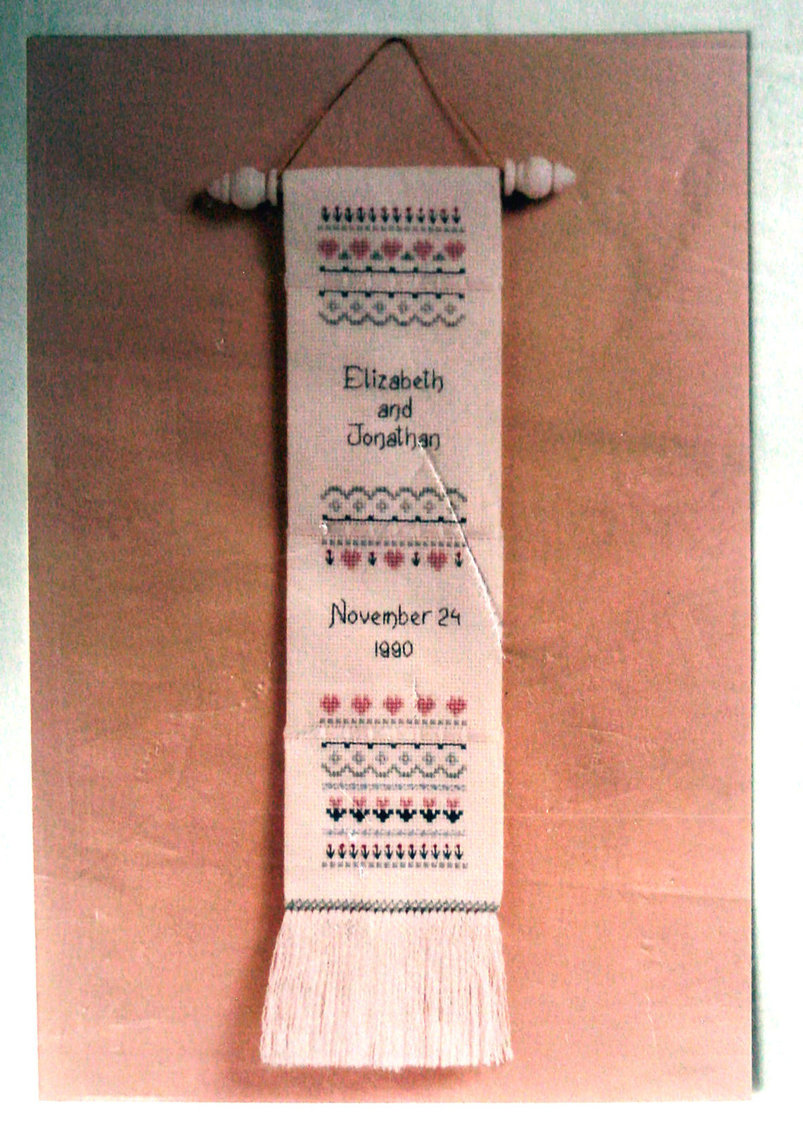 Counted Cross Stitch Pattern Wedding or Anniversary Banner