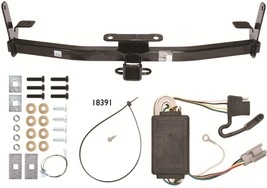 Trailer Receiver Tow Hitch W/ Wiring Harness Kit ~ Fast Shipping ~ No Drilling - $143.54