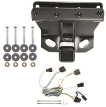 Trailer Receiver Tow Hitch W/ Wiring Harness ~ Class 3 ~ No Drill ~ Fast Shipp - $108.85