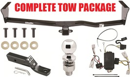 Complete Trailer Hitch Receiver Package   Wiring Kit Ballmount & Ball Included - $223.52