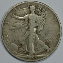 1945 D Walking liberty circulated silver half dollar - $14.25