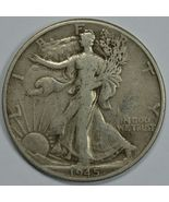 1945 D Walking liberty circulated silver half dollar - $14.25