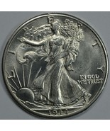 1944 D Walking Liberty silver half dollar BU details - $55.00