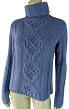 Ann Taylor Sweater M Lavender Lambswool Turtleneck Pullover Thick Knit - $30.69