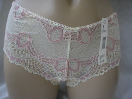 Jezebel by Felina Ivory & Pink Lace Tanga Panty 90536P M  NWT - $10.95