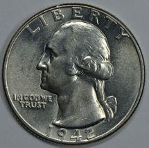 1942 P Washington uncirculated silver quarter BU - $20.00