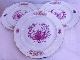 "Set Of 3 Beautiful Porcelaine De France Decorated 9"" Dinner Plates - $9.95"