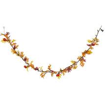 Light Up Maple Leaf and Pumpkin Garland - $22.50