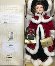 Seymour Mann Connoisseur Collection Porcelain Holly Ann Doll With Stand ... - $29.69