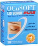 Ocusoft PLUS lid scrub pre moistened pads 60ct 2 pk  ($2.00 rebate) - $28.99