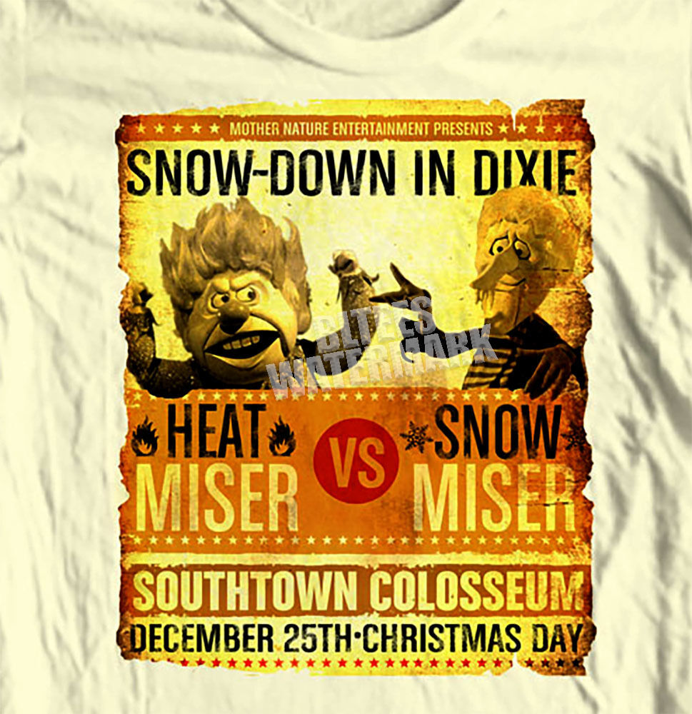 Snow Miser vs Heat Miser T-shirt Year Without a Santa Clause Christmas retro tee