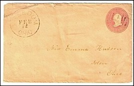 c1880 Freedom OH Discontinued/Defunct (DPO) Post Office Postal Cover - $9.95