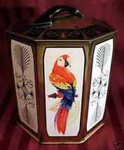 Vintage PEEK FREAN Biscuit Tin EXOTIC BIRDS Souvenir Cookie Tin Collector  - $14.95