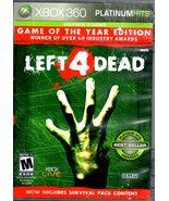 XBox 360 -Left 4 Dead (Platinum Hits) - $9.95
