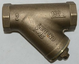 Legend Valve Two Inch Bronze Y Strainer Female NPT Ends Lead Free 105-508NL image 1