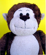 "Build A Bear Monkey Plush 18"" Brown Marvelous Stuffed Animal Workshop So... - $9.89"