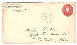 1902 Carthagena OH Discontinued/Defunct (DPO) Post Office Postal Cover - $9.95