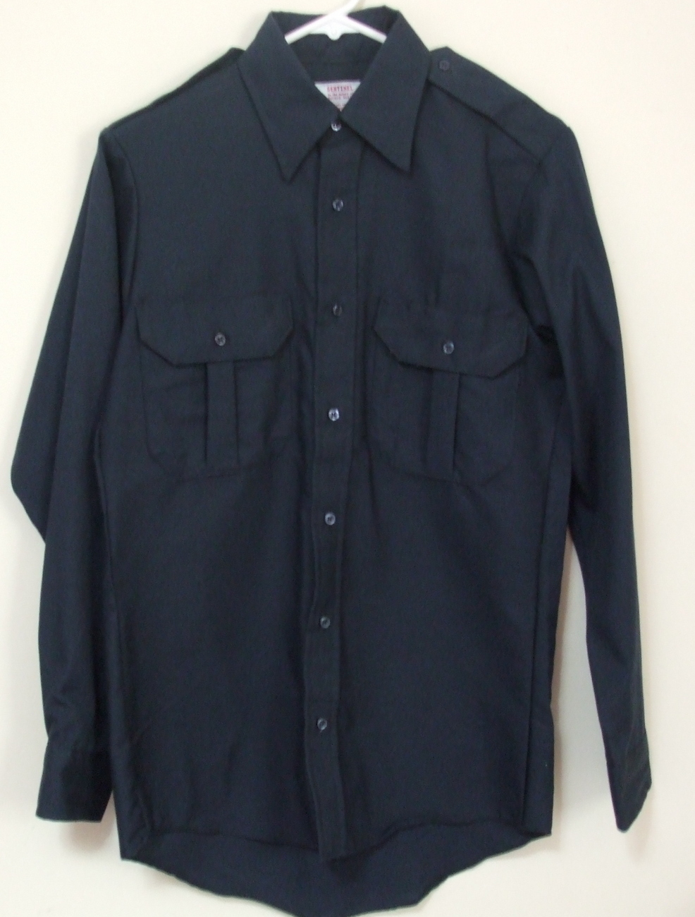 Mens NWOT Sentinel Navy Blue Long Sleeve Work Shirt Size Small